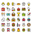 easter set filled icon editable stroke vector image vector image