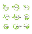 eco green tree leaf ecology vector image vector image