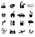 eco icon set vector image vector image