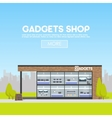facade gadgets shop in urban space sale vector image vector image