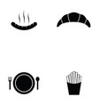 fast food icon set vector image vector image