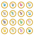 file format icon circle vector image vector image