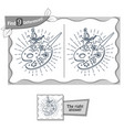 find 9 differences game artist palette vector image vector image