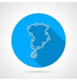 Flat round icon for beads vector image