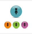 fountain pen icon on a colored bubbles with shadow vector image vector image