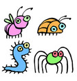funny cartoon insects vector image