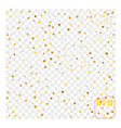 golden circle confetti falling on transparent vector image vector image