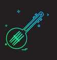 guitar icon design vector image