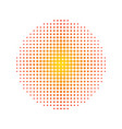 halftone circle isolated on white stock vector image vector image