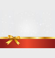 holiday white and red banner with gift glossy vector image