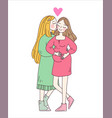 lesbian family concept vector image