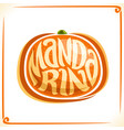 logo for fresh mandarin vector image vector image