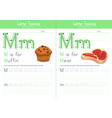 m for muffin and for meat vector image vector image