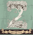 Magic grunge forest hand drawn by vintage font - Z