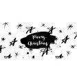 merry christmas stars banner vector image vector image