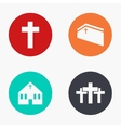 modern church colorful icons set vector image