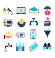 money flow flat icons vector image vector image