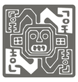 monochrome icon with Peruvian Indians art vector image vector image