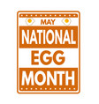 national egg month grunge rubber stamp vector image vector image