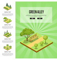 natural parkland landscape with green alley vector image vector image