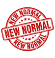 new normal red grunge stamp vector image vector image