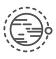 orbit line icon cosmos and space circle sign vector image vector image