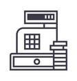 paymentcash register machine line icon vector image vector image