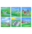 power and energy sources vector image