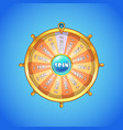 realistic spinning wheel fortune vector image