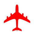 red plane over white background vector image vector image