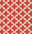 Retro fold red four pedal flowers vector image