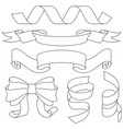 ribbons bows and decorations outline signs vector image