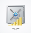 Safe and Money Golden Coins vector image vector image