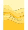 Sand curve wave line background vector image vector image