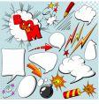 set comic elements vector image
