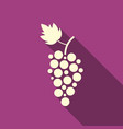 simple grape icon with long shadow vector image vector image