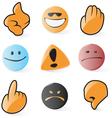 Smooth emoticon and cursor icons vector image vector image