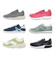 sneakers shoes sport fitness healthy footwear vector image vector image