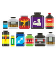 sport nutrition healthy food fitness diet vector image