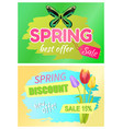 spring best offer promo tag springtime discount vector image vector image