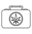 Suitcase with marijuana icon outline style vector image vector image