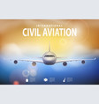summer travel with airplane on blue vector image vector image
