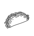 taco icon doodle hand drawn or black outline vector image