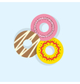 Three Donuts vector image