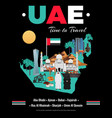 uae tourism travel poster vector image