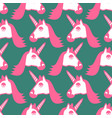 unicorn seamless pattern head of fantastic animal vector image vector image