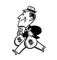 vintage cartoon rich banker