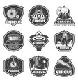 vintage monochrome circus labels set vector image
