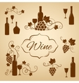 Vintage wine design elements for menu vector image vector image