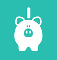 white piggy bank vector image vector image